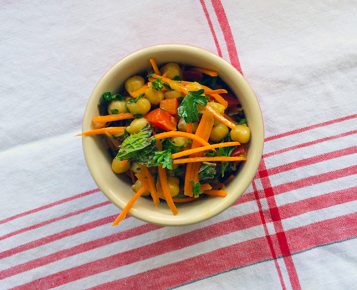 Chickpea & Vegetable Salad With Mint And A Lemon-cumin Vinaigrette ...
