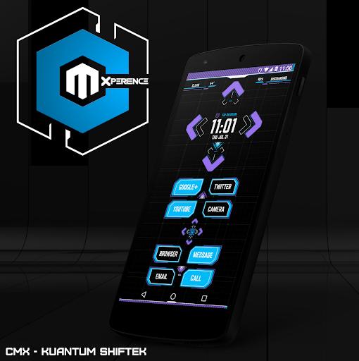 CMX - Kuantum Shiftek for KLWP - screenshot
