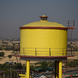 Yellow water tank by Basant Malviya - Buildings & Architecture Other Exteriors ( yellow water tank,  )