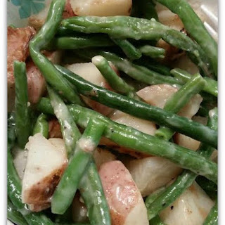 Parmesan Roasted Red Potatoes and Green Beans