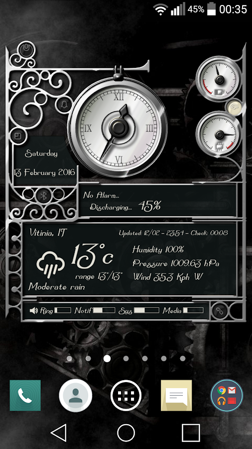 XtraOClock Steampunk Widget Screenshot 1