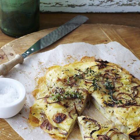 Duck Fat Potato and Onion Galette