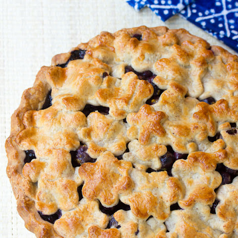 Fresh Blueberry Pie with Almond Pie Crust