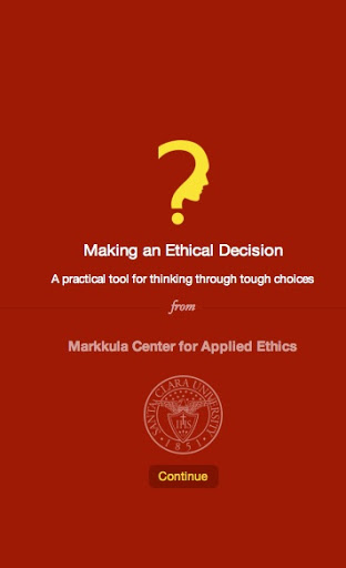 Markkula Center for Applied Ethics App