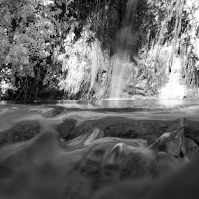 Overflow by Mohamad Sa'at Haji Mokim - Landscapes Waterscapes ( water, white, long exposure, pwcbwlandscapes, landscapes, black, river )