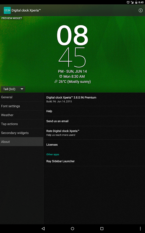 Digital Clock Widget Xperia Screenshot 13