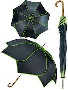 """Зонт трость """"Цветок"""", зеленый"""