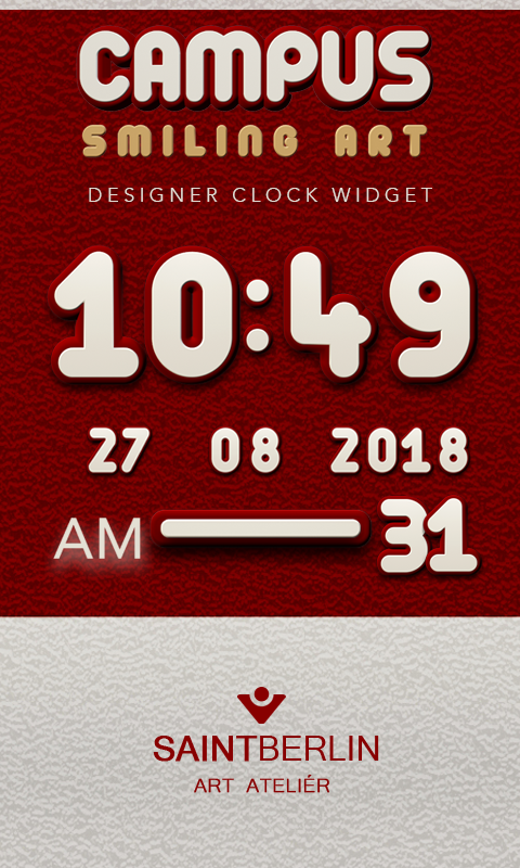Campus Digital Clock Widget Screenshot 0