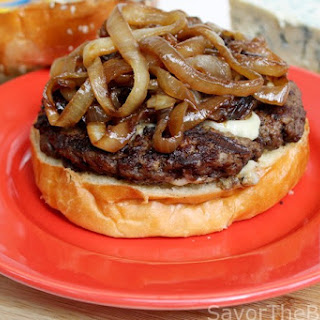 Caramelized Onion-Blue Cheese Burger