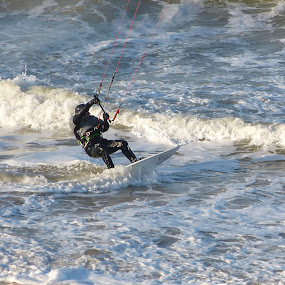 Kite Surfer by Mick Heywood - Sports & Fitness Watersports ( broadstairs, kite, sea, beach, kite surf, surf )