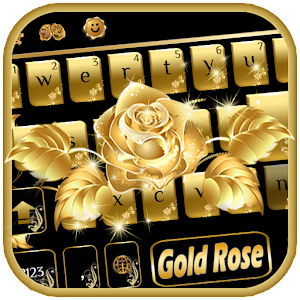 Download Gold rose Keyboard Theme For PC Windows and Mac