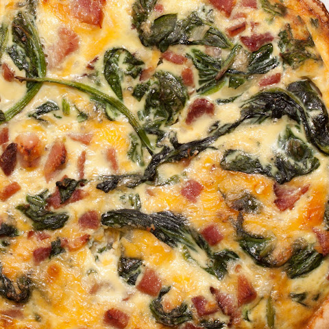 Spinach, Ham, and Cheddar Quiche
