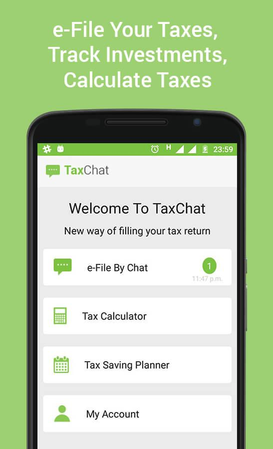 TaxChat - Income Tax e-Filing Screenshot 0
