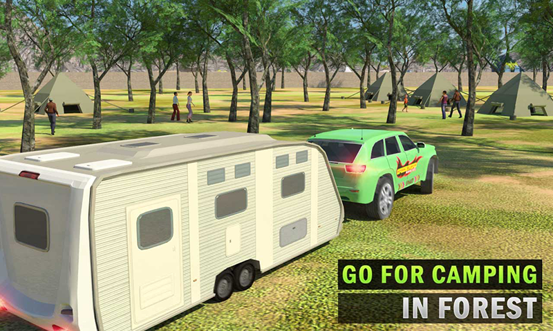 Camper Van Truck Simulator: Cruiser Car Trailer 3D Android App Screenshot