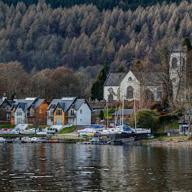 Kenmore Village by Graham Hill - Buildings & Architecture Other Exteriors ( shore, kenmore, scotland, village, beach, loch, highlands, loch tay,  )