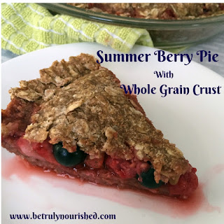 Summer Berry Pie with Whole Grain Crust