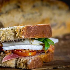 Sandwich by Marius Radu - Food & Drink Eating ( bread, ham, sandwich, tomato, cheese )