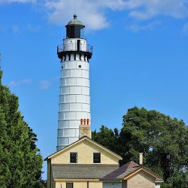 Cana Island Lighthouse by Amy Sauer - Buildings & Architecture Public & Historical