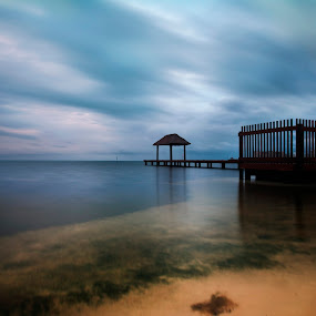 After storm by Cristobal Garciaferro Rubio - Landscapes Travel ( cancun, shore, reflection, sunset, sea, storm, after storm )