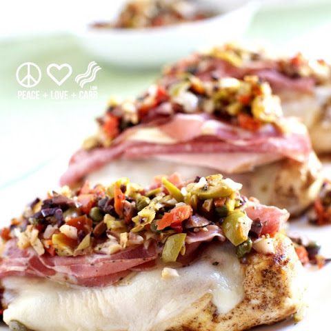 Muffuletta Chicken from The Primal Low Carb Kitchen Cookbook