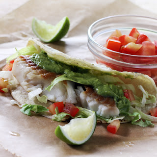 Fish Tacos with Creamy Avocado Salsa