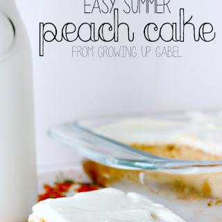 Easy Summer Peach Cake