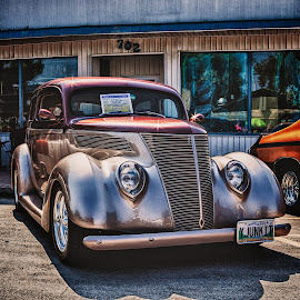 Y Junk It by Dave Lipchen - Transportation Automobiles ( street, 1937 ford, car show )
