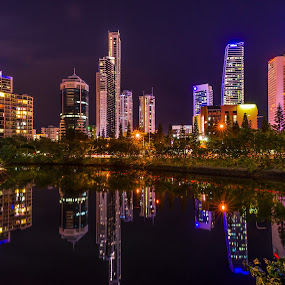 by Daniel Widjaja - City,  Street & Park  Skylines ( night, lights )