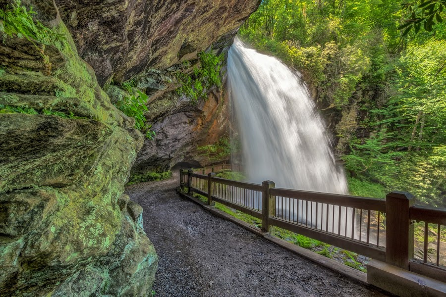 DRY FALLS 3 by RomanDA Photography - Landscapes Waterscapes ( mountains, bridal vail falls, nc, dry falls, water )