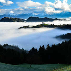 Megleno morje 2 by Bojan Kolman - Landscapes Cloud Formations