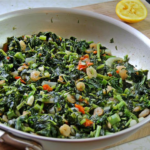 Jamaican Callaloo With Shrimp.