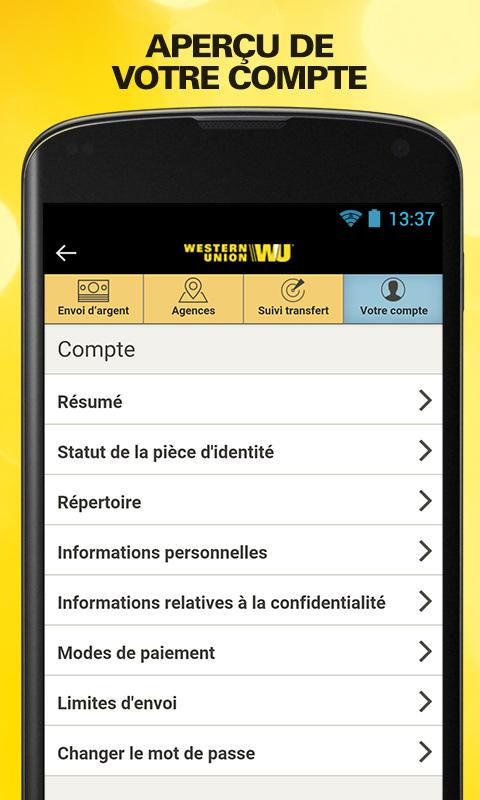 Send money with Western Union Screenshot 4