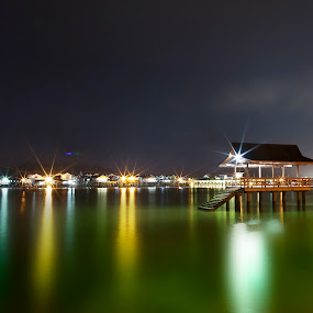 The water village of Brunei Darussalam by Mohamad Sa'at Haji Mokim - City,  Street & Park  Historic Districts ( water village, waterscape, slowshutter, brunei, district )