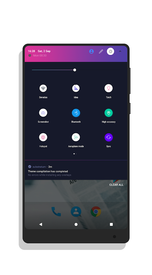 Freshui Dark Substratum Theme Screenshot 18