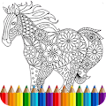 Coloring Book: Animal Mandala APK for Bluestacks