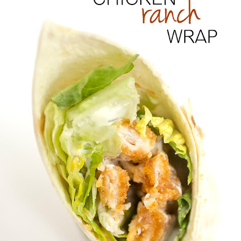 Easy Chicken Ranch Wrap