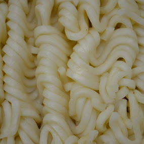 Wavy  No Gravy by Kristina Weber - Abstract Patterns ( wavy, noodles, food, pwclines )