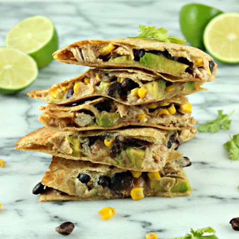 Mesquite Chicken Quesadillas with Chunky Avocado & Pineapple Relish