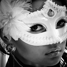 by Joey Bangun - Black & White Portraits & People ( woman, b&w, portrait, person )