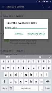 Moody's Events - screenshot