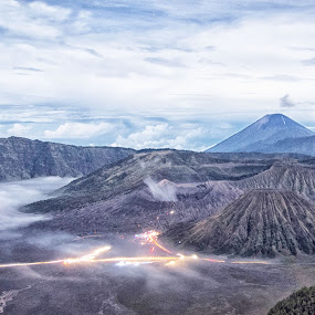 new bromo by Teguh Adi - Landscapes Mountains & Hills ( cold, new year, beautifull, eastjava, bromo, light )
