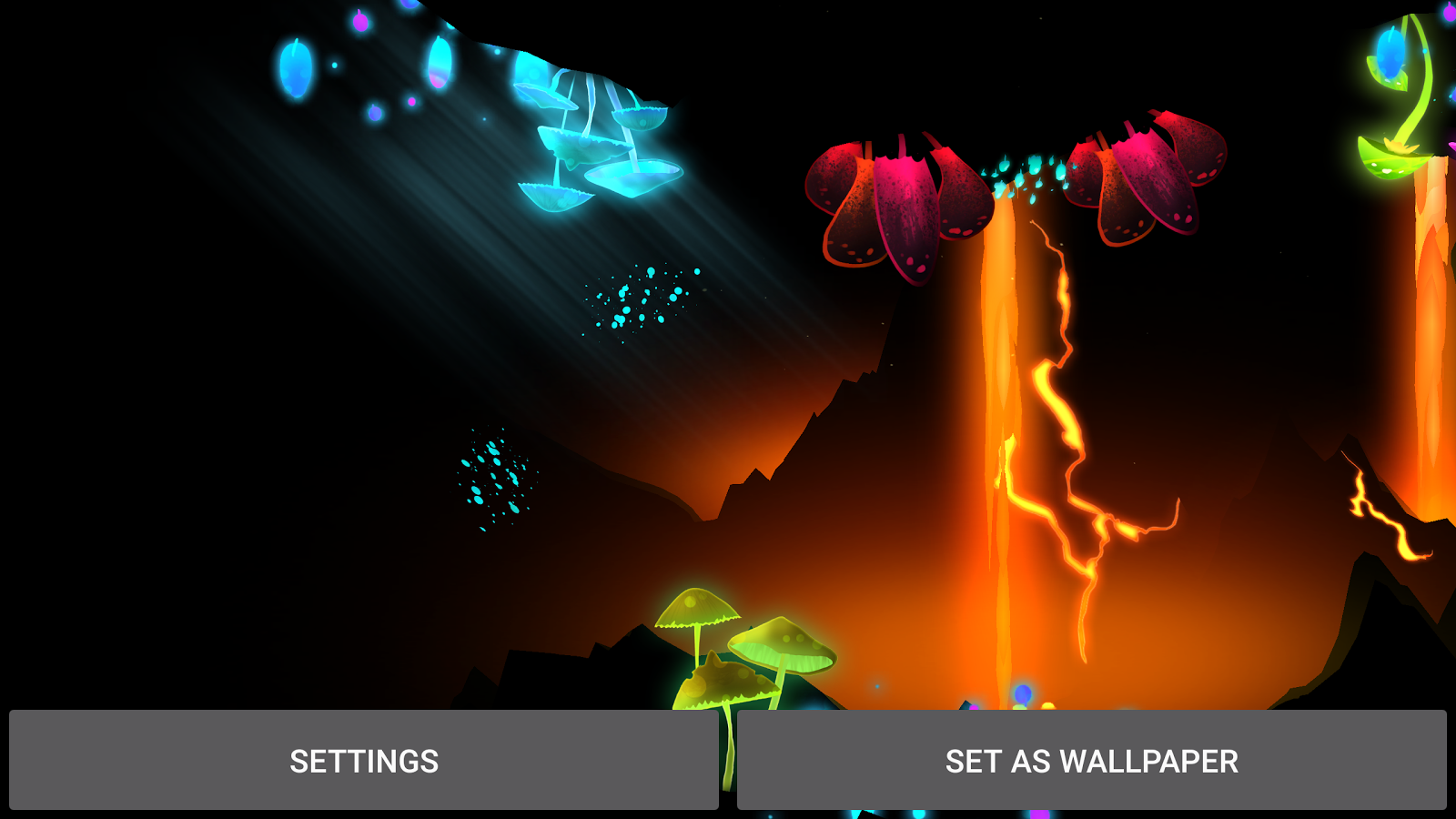 3D Fantasy Epic Lava Cave LWP Screenshot 17