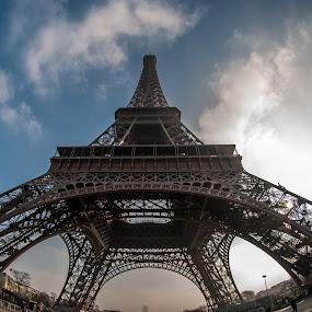 Eiffel Tower 1, Paris, France by Horizon Photo - Buildings & Architecture Statues & Monuments ( eiffel tower, paris, france )