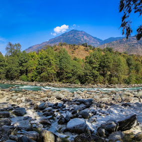 Beas river by DrArindam Ghosh - Landscapes Mountains & Hills ( hills, beas, mountains, nature, wide angle, panorama, river, ;andscape )