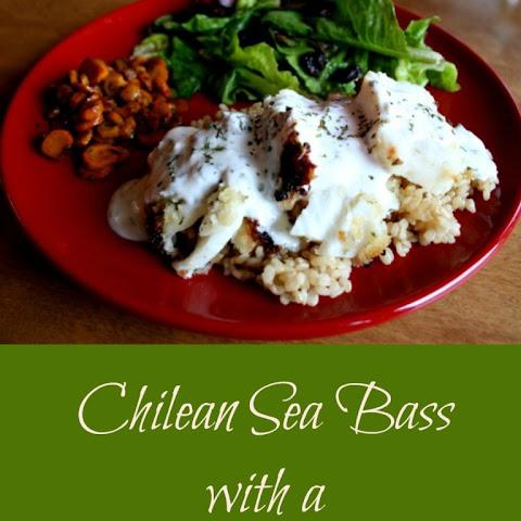 Chilean Sea Bass with Lemon Yogurt Sauce