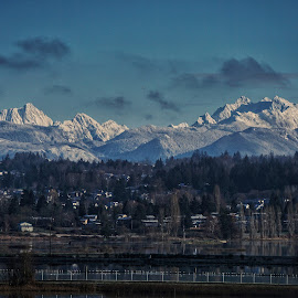 Over Marysville  by Todd Reynolds - Landscapes Mountains & Hills