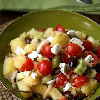 Greek Potato Salad with Olives and Feta