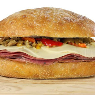 Pepper-Roasted Pork Tenderloin Muffuletta