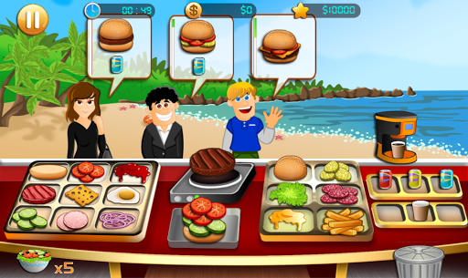 Cooking - Beach Yummy Burger Restaurant For PC