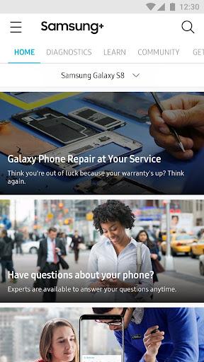 Samsung+ screenshot 1